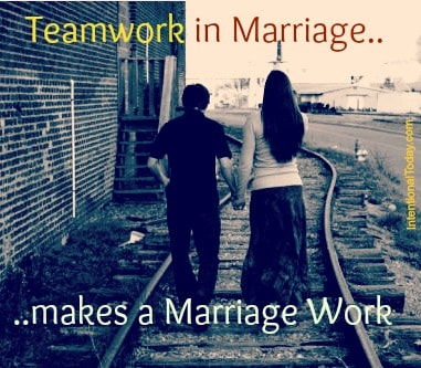 Image: Teamwork in Marriage Makes the Marriage Work