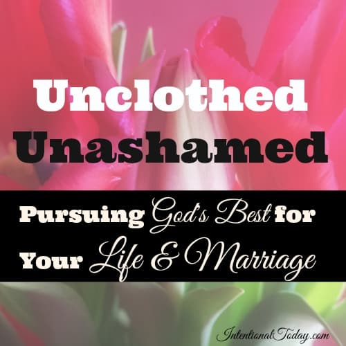 Unclothed and unashamed - Pursuing God's best for your life and marriage