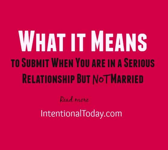 What it means to submit in the context of courtship