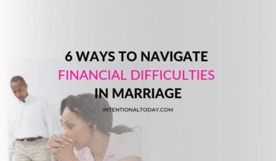 How do we navigate financial difficulties in marriage? Finance issues in the early years of marriage can be stressful. Here are 6 ways weather the storm