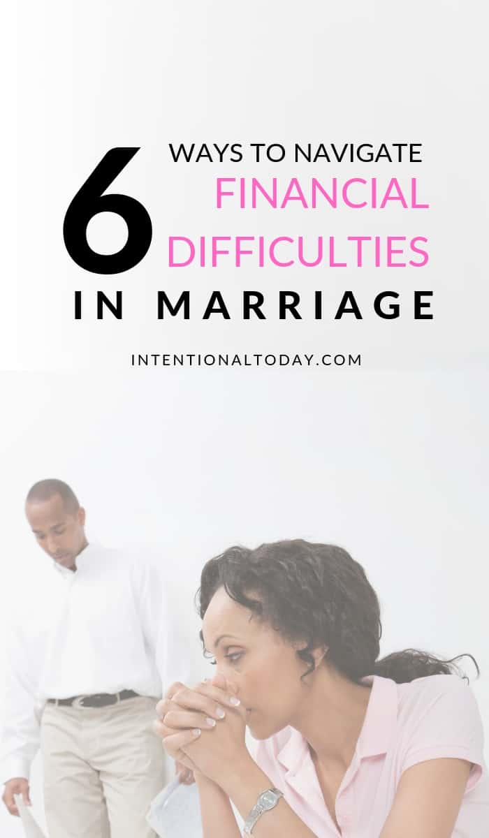 How do we navigate financial difficulties in marriage? Finance issues in the early years of marriage can be stressfull. Here are 6 ways weather the storm