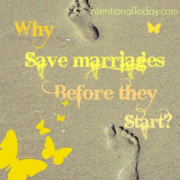 Image: Why Save Marriages Before they Start?