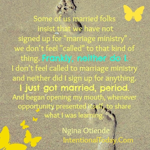 Image: Why Save Marriages Before They Start