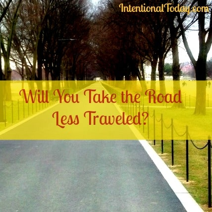 Image: Will you Take the less traveled Road?