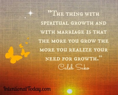 1 marriage insights from Intentional Today readers