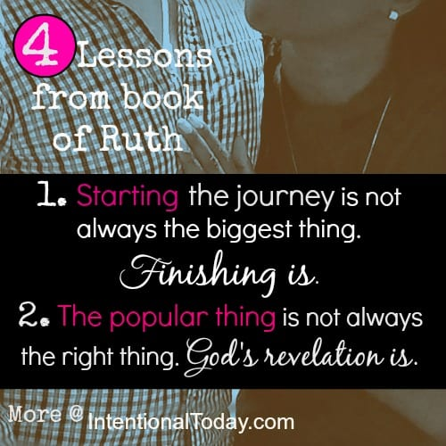 4 Lessons from the book of Ruth.