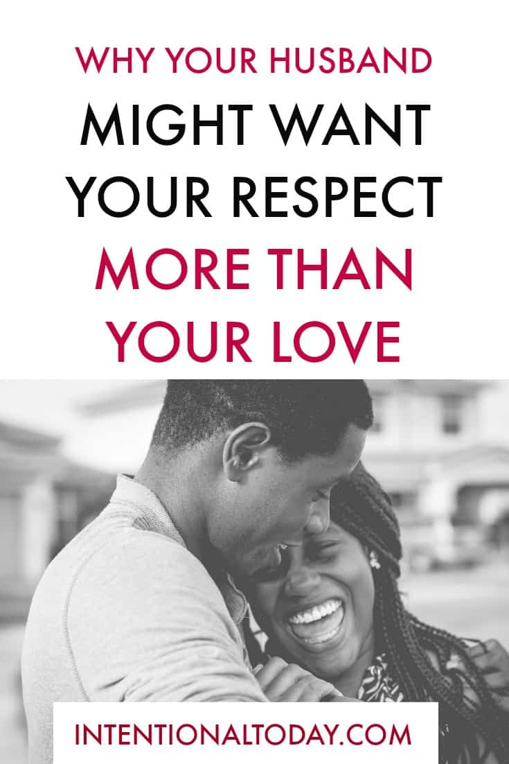 Did you know that your husband might want your respect more than your love? Here's how I found that out!