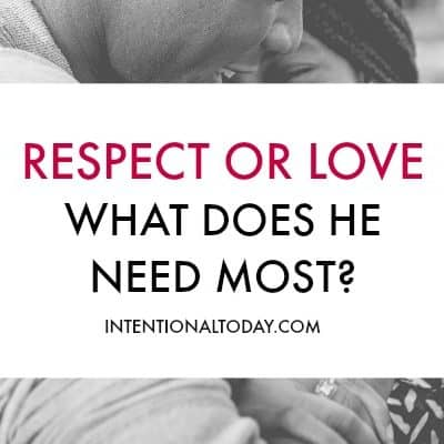Your Husband Might Want Your Respect, More than Your Love