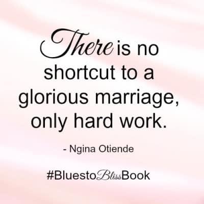 no shortcut to a happy marriage