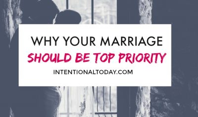 Priority - the unpopular gospel of putting your marriage first and why you should give your marriage the best attention it deserves