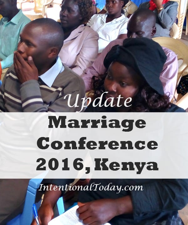 Update marriage conference and community outreach 2016