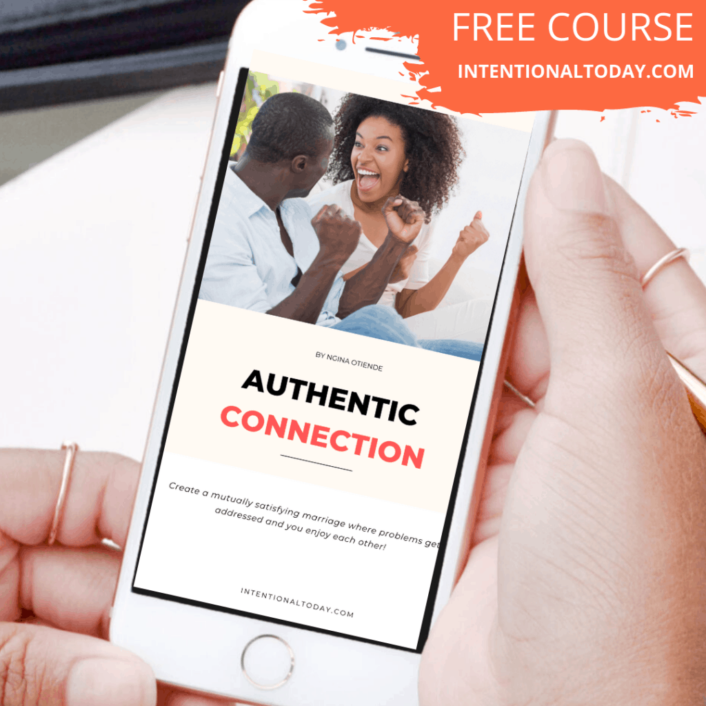Authentic Connection - what to do when your husband hates talking