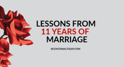 What can you learn from eleven years of marriage? My top 5 lessons!