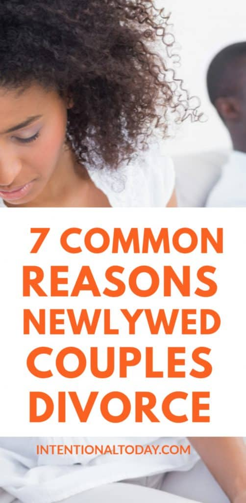 Why do newlywed couples divorce? The seven common reasons newlywed married people divorce and the things to do so your marriage does not become a statistic