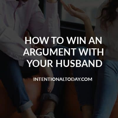 How to win an argument with your husband? Make sure the relationship also wins