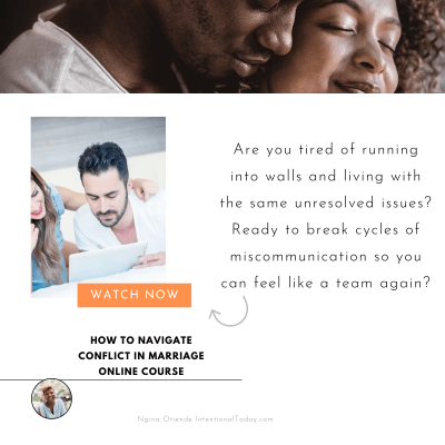 How to navigate conflict in marriage, the online course for every couple who want to tear down communication barriers so they can enjoy marriage again