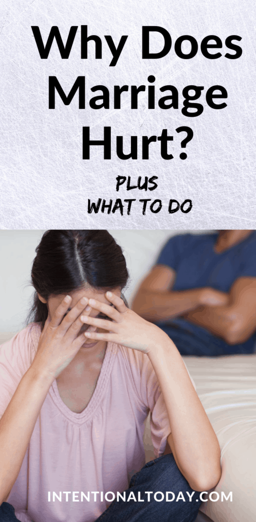 Why does marriage hurt so much when we're growing? How can couples address underlying problems and stop sweeping things under the rug?